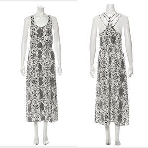 PARKER Black White Print Maxi Dress XS